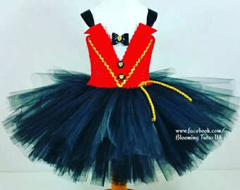 Circus Ringmaster Inspired Tutu Dress-Birthday, Party, Photo Prop, Tuxedo, Fancy dress