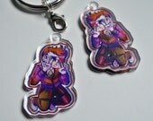 10th Doctor (w/3D Glasses!) Acrylic Charm