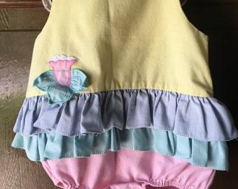 Sunsuit  Baby  12 month ruffle dress