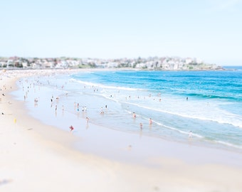 Bondi Beach Print, Bondi Beach Photograph, Beach Photography, Aerial Beach Photography, Beach Print, Bondi Beach Art, Beach Home Decor