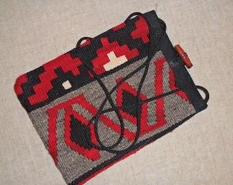 Vintage Native American Shoulder Crossbody Bag Button Closure