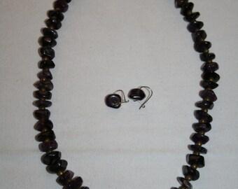 Vintage Tumbled Amethyst Necklace set