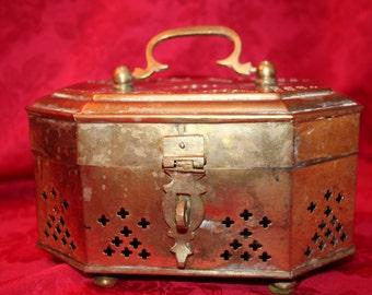 Vintage Large Brass Box