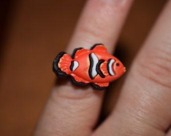 Orange Fish Adjustable Ring