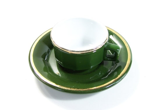 r serv pour marie louise tasse caf verte et soucoupe. Black Bedroom Furniture Sets. Home Design Ideas
