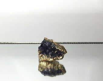 Raw Amethyst Cluster with Gold