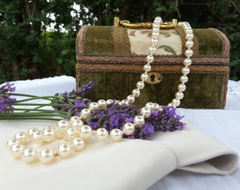 Single Strand Faux Pearl Opera Length Necklace