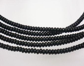 Czech Glass: 3mm Jet Black 38999