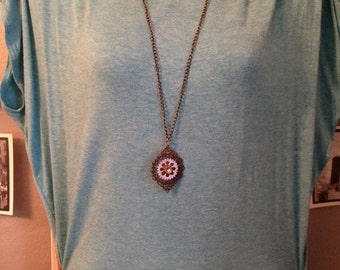 Upcycled necklace with vintage button