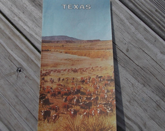 Texas folding road map from Texaco 1968 edition