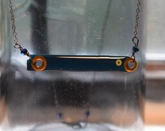 Cerulean Bar Necklace