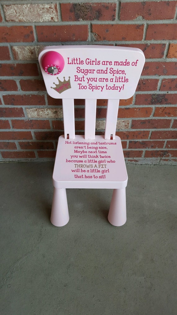 Sale Personalized Girls Sugar And Spice Time Out Chair With