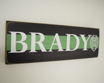 Federal Agent - Border Patrol - Park Ranger  - Security - Family Name Decor - Thin Green Line - Police Officer Decor - HeroSigns