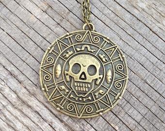 pirates of the carribean coin / necklace / disney / jewelry / magic kingdom / disneyland / walt disney world