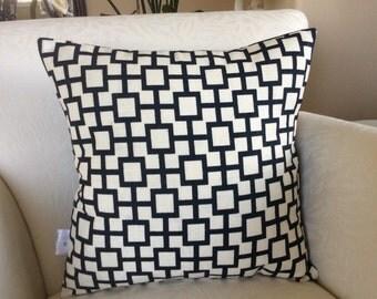 Blue Pillow Cover, Midnight Blue Pillow Cover, Cat's Cradle Pillow, Toss Pillow, Accent Pillow, Decorative Pillow