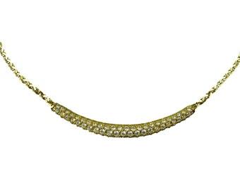 Swarovski Crystal Gold Tone Choker