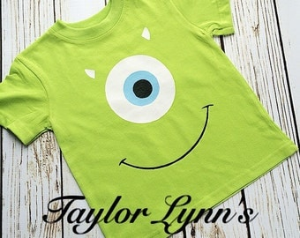 Mike Wazowski inspired shirt, Monsters Inc inspired shirt, little monsters, monster shirt, monster birthday