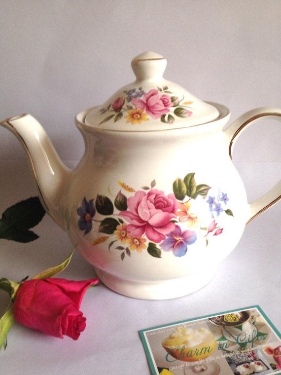 Sadler Tea Pot Vintage Tea Pot Fine China Tea Pot
