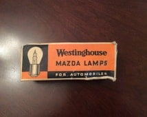 Vintage Westinghouse Mazda Lamps for Automobiles Lamp #1491 2.4 Volts