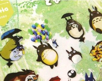 Funny TOTORO Stickers 1 Sheet - Totoro Planner Deco Stickers