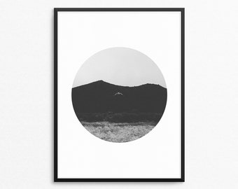 Circle Photography, Mountain Photography, Mountains, Mountain Print, Mountain Wall Art, Landscape Photo, Abstract Photography, Rustic Decor