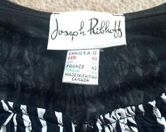 Designer Black and White Stretchy Jacket by Joseph Ribkoff, Eur 40/ UK14/ US10 - Never Worn!