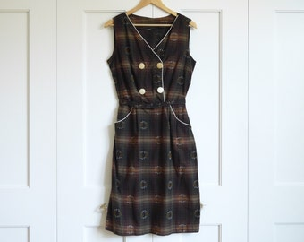 early 1960's belted dress