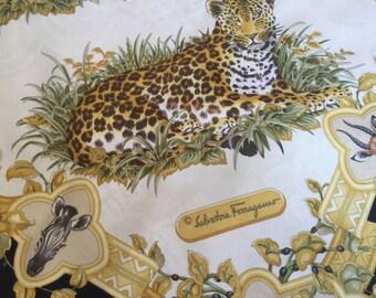 Rare Vintage Salvatore Ferragamo Silk Scarf