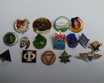 Vintage lot souvenir pins