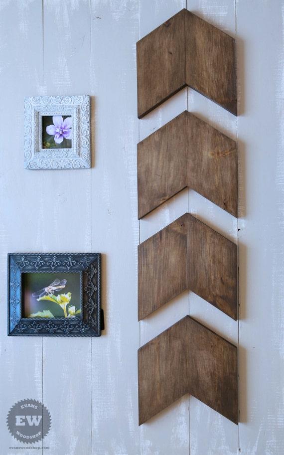 wood arrow wall art set of 4 chevron arrows rustic home. Black Bedroom Furniture Sets. Home Design Ideas