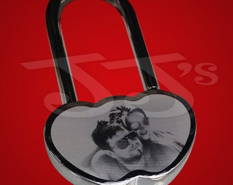 Locked In Love Padlock - personalised with a photo &/or text