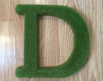 Large Mossy Green Initial Letter Wreath Add On
