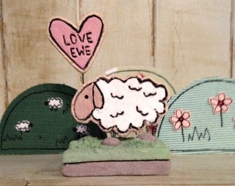 Ceramic 'Love Ewe' Sheep