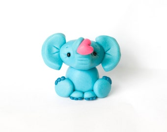 Clay Elephant with Heart