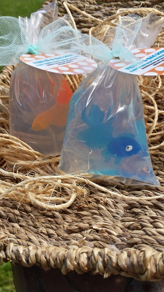 Fish in a bag soap glycerin unscented soap party favors for Fish in a bag soap