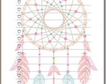 """Dreamcather """"To Do"""" inserts/notepads"""