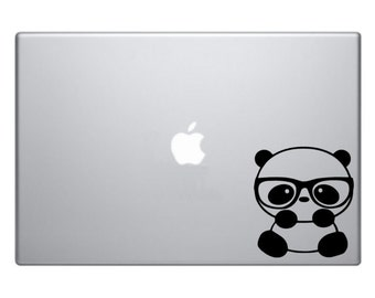 Nerdy Panda Macbook Decal Macbook Sticker Mac Decal Mac Sticker Decal for Apple Laptop Macbook Pro / Macbook Air