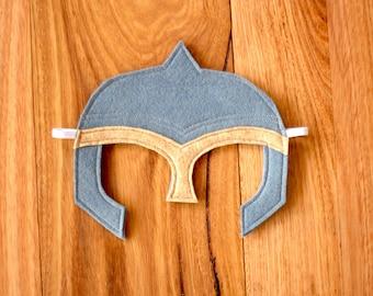 Knight / Warrior Helmet - Felt Dress up Mask / Costume