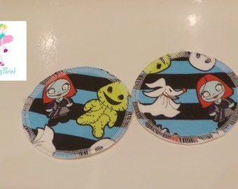"""Ghouls Jersey 4.5"""" Breast pads nursing pads Reusable washable ultra thin"""