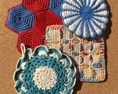 Vintage Crochet Potholders Collection