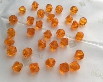 Swarovski #5301 Crystal Sun Orange Bicone Faceted Beads 3mm 4mm 5mm 6mm 8mm