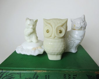 Vintage Lot of Avon Bottles - Avon Cats - Avon Owl