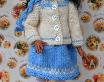 Knitted outfit for MSD dolls.