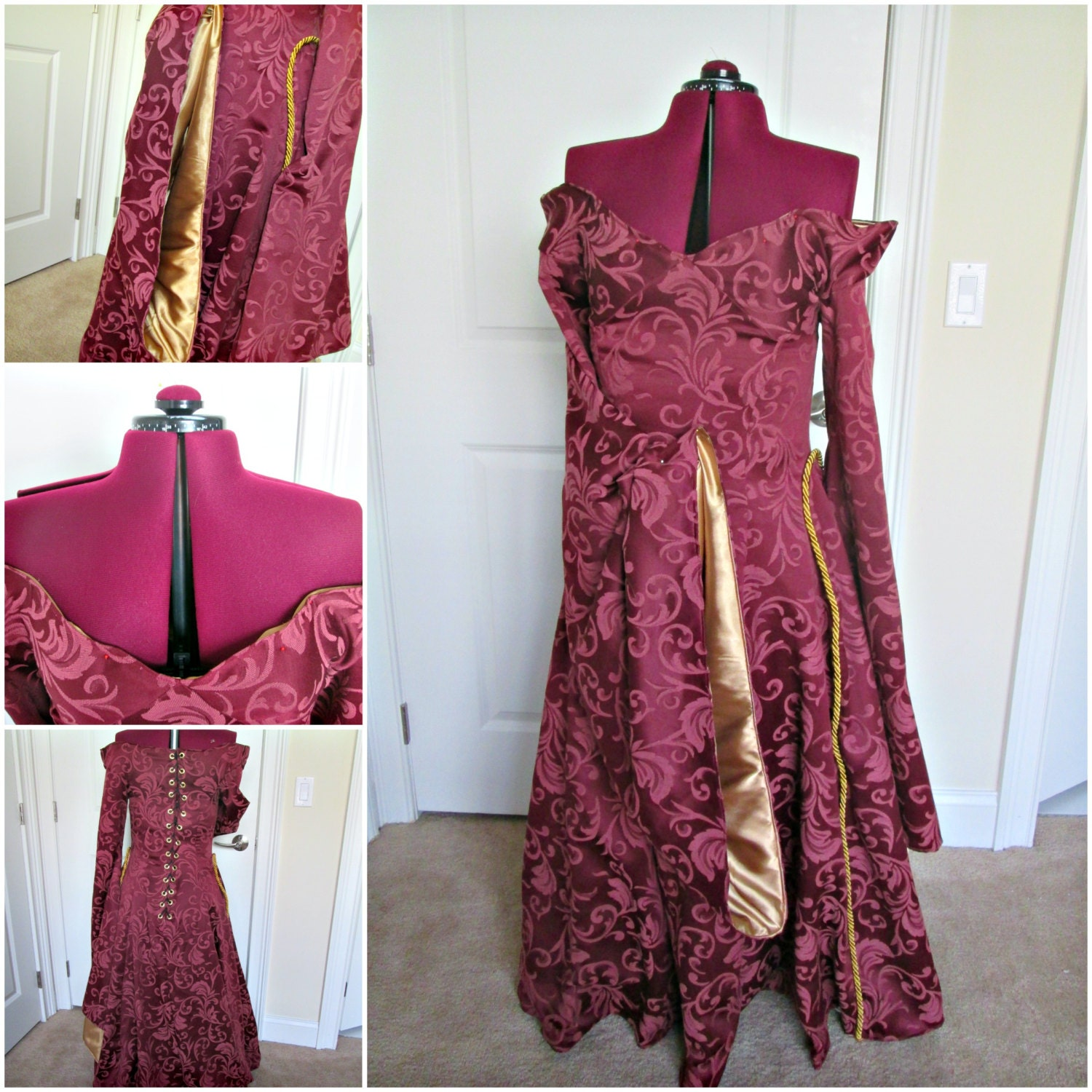 Favori Cersei Red Gown Game Of Thrones Cosplay Off The Shoulder RW64