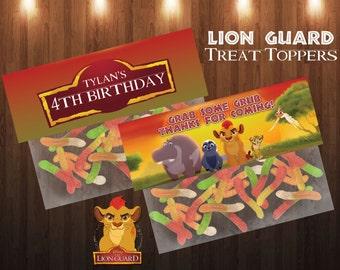 Lion Guard Birthday Treat Bag Topper Favor Bag