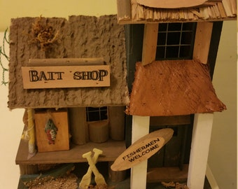 Bird house for the  fishermen in your life