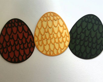 Game of Thrones inspired dragon eggs Die cut outs 6 or 12 pc