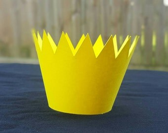 Where the Wild Things Are Cupcake Wraps 12 Ct Crown Yellow or Gold Wrap Birthday Party Decorations Supplies