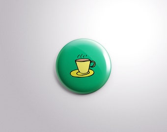 "1""/25mm Chai - Pakistani Indian Button Badge Pins"