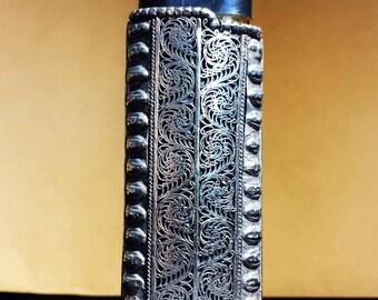 Filigree Carved Metal Lighter Case